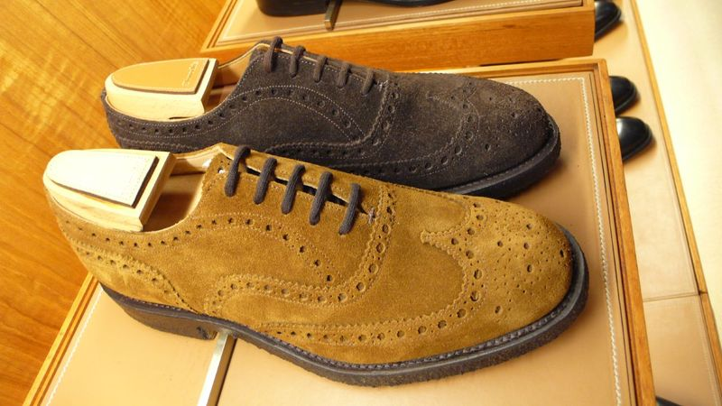Churchs suede wingtips