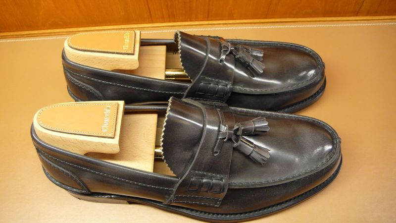 Grey churchs loafers