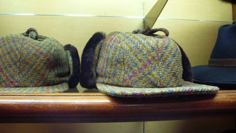Brooks brothers tweed hat with ear muffs