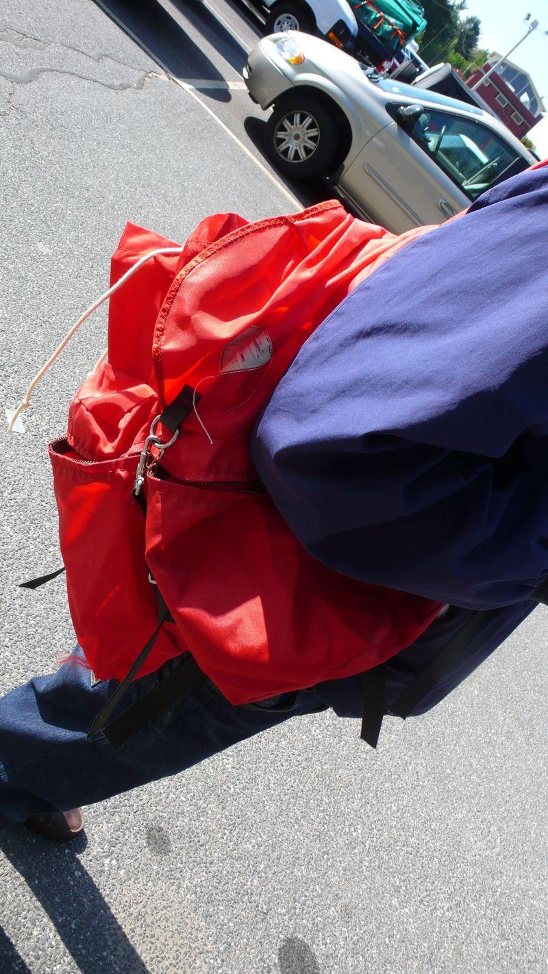 Orngebackpack