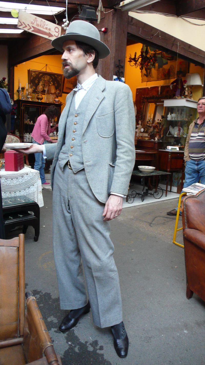 Vintage gray flannel suit