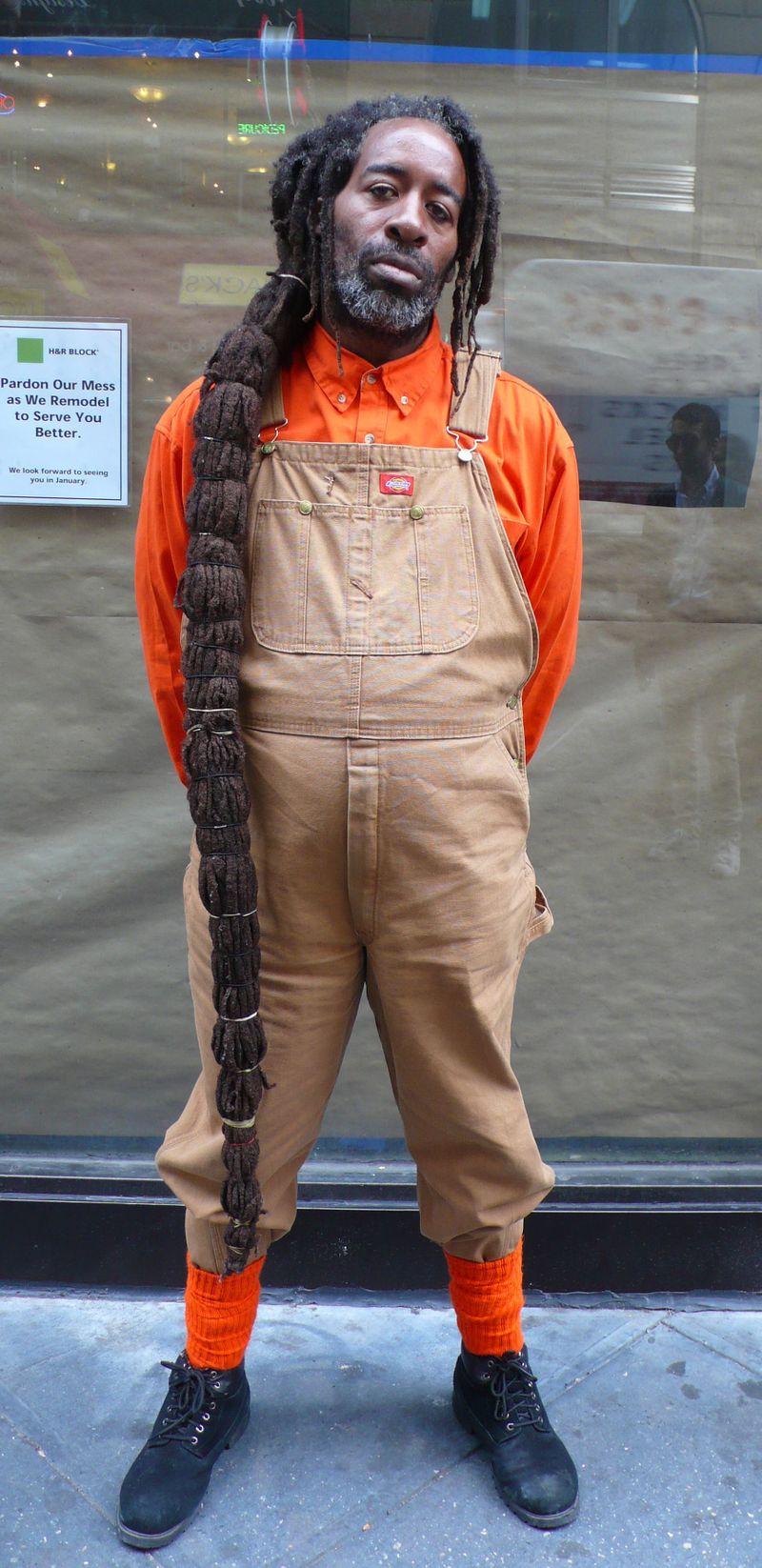 Dread in overalls