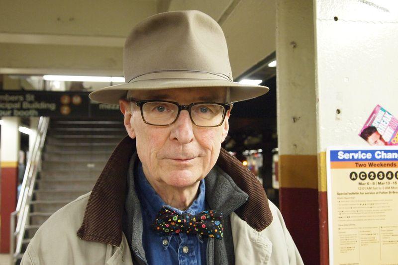 Man subway bowtie