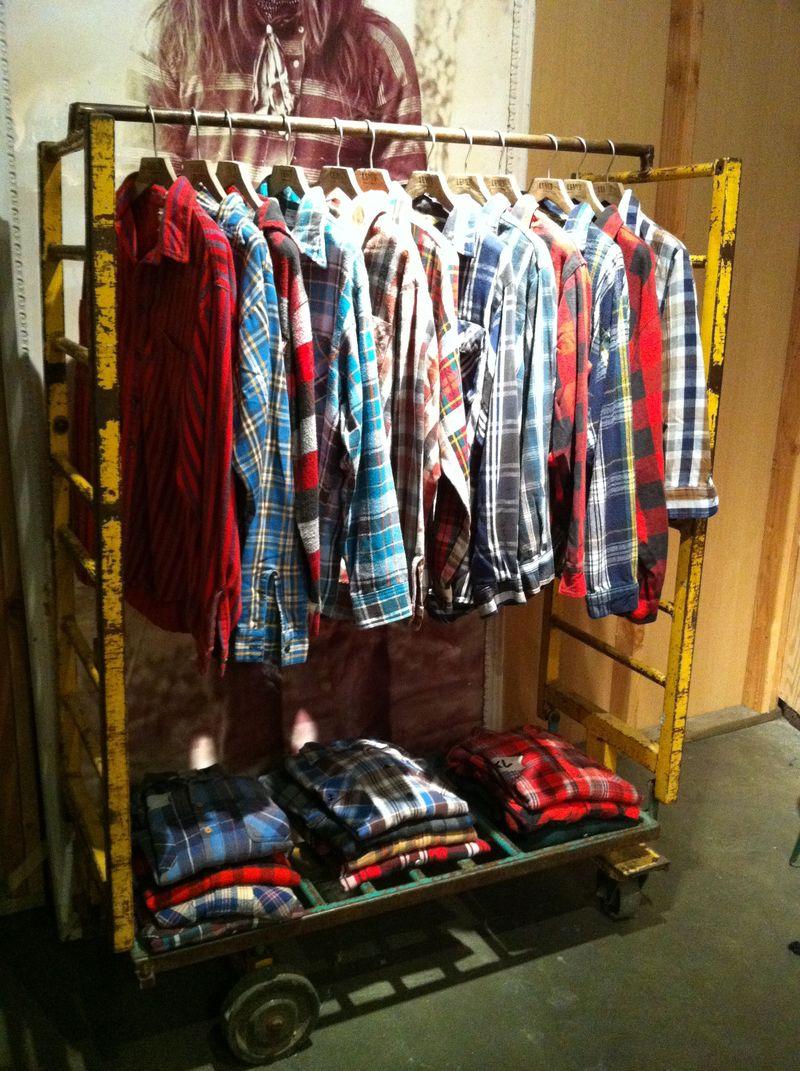 Flannel rack