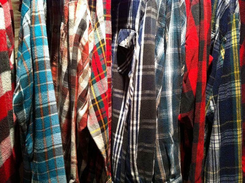 Flannel close up