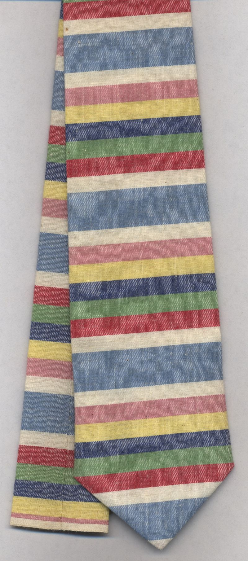 Striped chambray curatory